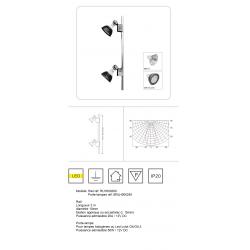 Porte-lampes pour micro Rail