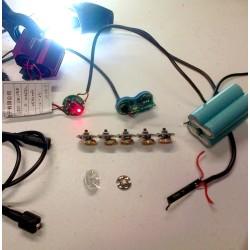 Réparation, modification, remplacement d' éclairage ou de batteries